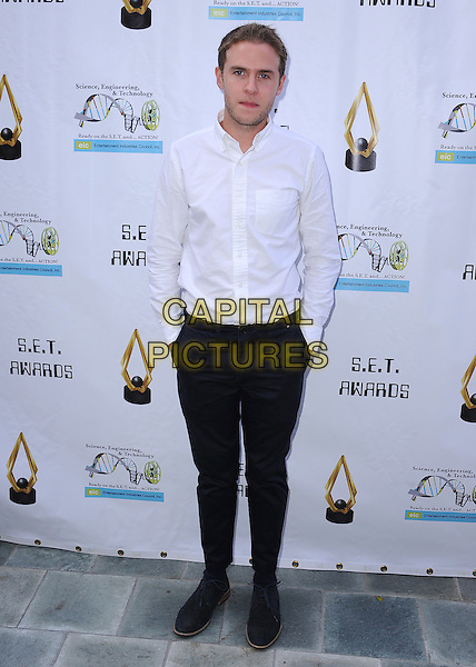 LOS ANGELES, CA - NOVEMBER 12:  Iain De Caestecker at the 4th Annual SET Awards at the Skirball Cultural Center on November 12, 2014 in Los Angeles, California.  <br /> CAP/MPI/PGSK<br /> &copy;PGSK/MediaPunch/Capital Pictures