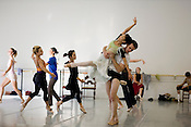 Attila Vongar, as Don Quixote, with Margret Severin-Hanson as Dulcinea during a rehersal at Carolina Ballet in Raleigh.