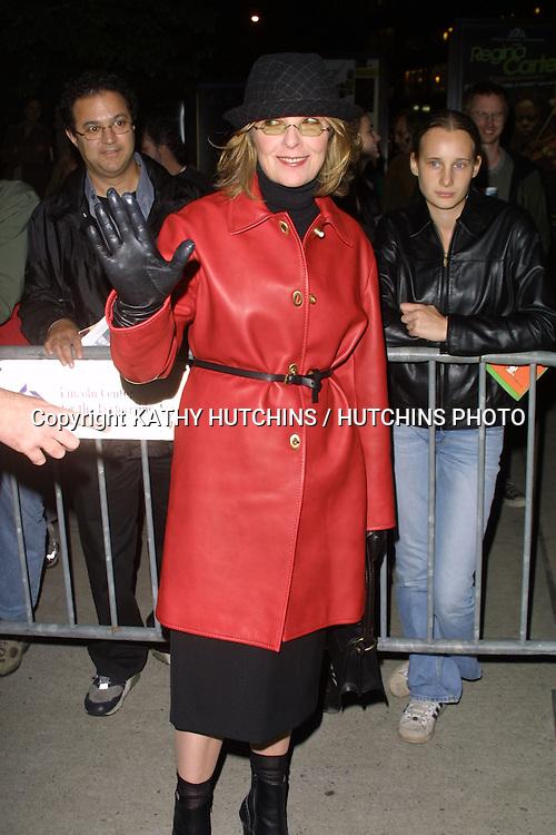 "©2003 ARIEL RAMEREZ / HUTCHINS PHOTO.41st New York Film Festival - ""Elephant"" - Screening.October 10, 2003 - Alice Tully Hall, Lincoln Center.New York City, New York United States..DIANE KEATON"