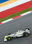 03 Apr 2009, Kuala Lumpur, Malaysia ---     Brawn GP Formula One Team driver Rubens Barrichello of Brazil in the first practice session during the 2009 Fia Formula One Malasyan Grand Prix at the Sepang circuit near Kuala Lumpur. Photo by Victor Fraile --- Image by © Victor Fraile / The Power of Sport Images