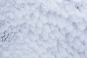 Appalachian Trail - Rime ice on the summit of Mount Lafayette during the winter months in the White Mountains, New Hampshire USA