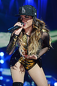 MIAMI, FL - NOVEMBER 07: Becky G performs during the iHeartRadio Fiesta Latina concert at American Airlines Arena on November 7, 2015 in Miami, Florida. Credit Larry Marano © 2015