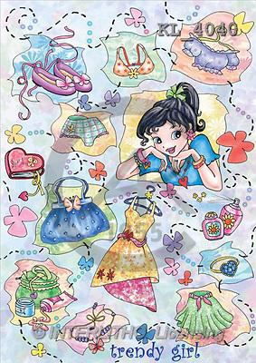 Interlitho, Dani, TEENAGERS, paintings, trendy girl(KL4040,#J#) Jugendliche, jóvenes, illustrations, pinturas ,everyday
