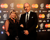 Sir Clive Woodward OBE and Lady Woodward at the World Rugby Awards 2015  - 01/11/2015 - Battersea Evolution, London<br /> Mandatory Credit: Rob Munro/Stewart Communications