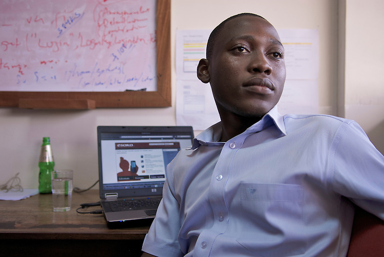 """Godwin Cudjoe, programmer, Esoko: """""""