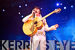 Emerald Elvis Mark Leen pictured onstage at the Aloha from Killarney concert at the INEC on Saturday night.