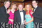 Ball: Making the most of the night at the Furniture Ball in Ballygarry House on Saturday were Tony Quirke, Stella Quirke, Alan Tobin, Joan Tuohy and Damien Flynn (all from Carpetright Tralee). .