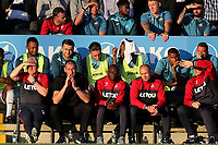 Swansea City Manager, Paul Clement watches on alongside Assistant Manager, Claude Makelele during Barnet vs Swansea City, Friendly Match Football at the Hive Stadium on 12th July 2017
