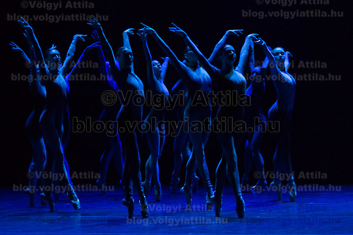 Members of The Israel Ballet perform during a dress rehearsal of their piece White Swan choreographed by Andonis Foniadakis in Budapest, Hungary on Oct. 13, 2017. ATTILA VOLGYI
