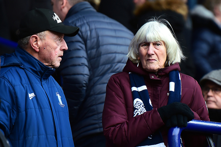 Preston North End fans look on<br /> <br /> Photographer Richard Martin-Roberts/CameraSport<br /> <br /> The EFL Sky Bet Championship - Bolton Wanderers v Preston North End - Saturday 9th February 2019 - University of Bolton Stadium - Bolton<br /> <br /> World Copyright © 2019 CameraSport. All rights reserved. 43 Linden Ave. Countesthorpe. Leicester. England. LE8 5PG - Tel: +44 (0) 116 277 4147 - admin@camerasport.com - www.camerasport.com