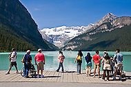 Tourists at Lake Louise, Banff National Park