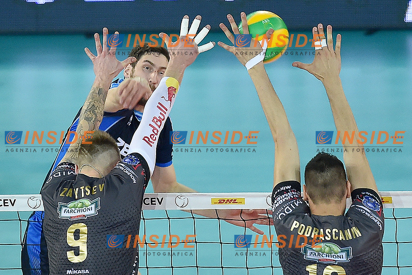 Maxim Mikhailov Kazan, Ivan Zaytsev, Marko Podrascanin Perugia.<br /> Roma 29-04-2017  PalaLottomatica<br /> DHL 2017 CEV Volleyball Champions League,<br /> Final Four - Men<br /> Final - gold medal<br /> Zenit Kazan - Sir Sicoma Colussi Perugia<br /> Foto Antonietta Baldassarre / Insidefoto