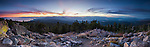 Sunset over Lake Tahoe from the Martis Peak Fire Lookout