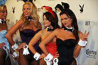 "Playboy playmates pose at Playboy's ninth annual ""Super Saturday Night""  party in at Playboy's Desert Oasis and Resort in Chandler, Arizona Saturday February 2, 2008.   (Photo by Alan Greth)"