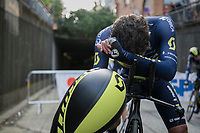 Daryl Impey (ZAF/Orica-Scott) post-finish<br /> <br /> Men's Team Time Trial<br /> <br /> UCI 2017 Road World Championships - Bergen/Norway