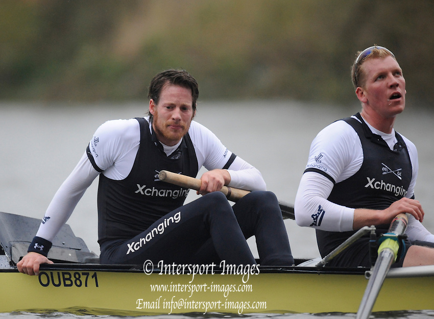 Putney, GREAT BRITAIN,   Left Jan HRZOG and Toby MEDARIS, after winning the 2008 annual University Boat Race,  Oxford vs Cambridge raced over the 'Championship Course' Putney to Mortlake, on the River Thames, Sat 29.03.2008 [Mandatory Credit, Peter Spurrier / Intersport-images Varsity Boat Race, Rowing Course: River Thames, Championship course, Putney to Mortlake 4.25 Miles,