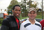 Lawrence Saint-Victor & Daniel Cosgrove - Guiding Light's actors meet fans at Stacy Jo's Ice Cream in McKees Rocks, PA on September 30, 2009. During the weekend of events proceeds from pink ribbon bagel sales at various Panera Bread locations will benefit the Young Women's Breast Cancer Awareness Foundation. (Photo by Sue Coflin/Max Photos)