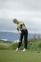 Sean Moloney (Dunmurry Springs) during round 1 of The West of Ireland Amateur Open in Co. Sligo Golf Club on Friday 18th April 2014.<br /> Picture:  Thos Caffrey / www.golffile.ie