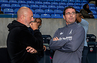 Bolton Wanderers' manager Keith Hill (left) chats with Bradford City's manager Gary Bowyer before the match<br /> <br /> Photographer Andrew Kearns/CameraSport<br /> <br /> EFL Leasing.com Trophy - Northern Section - Group F - Bolton Wanderers v Bradford City -  Tuesday 3rd September 2019 - University of Bolton Stadium - Bolton<br />  <br /> World Copyright © 2018 CameraSport. All rights reserved. 43 Linden Ave. Countesthorpe. Leicester. England. LE8 5PG - Tel: +44 (0) 116 277 4147 - admin@camerasport.com - www.camerasport.com