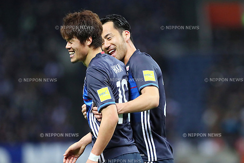 (L-R) Hiroki Sakai, Maya Yoshida (JPN), <br /> MARCH 24, 2016 - Football / Soccer : <br /> FIFA World Cup Russia 2018 Asian Qualifier Second Round Group E match between<br /> Japan 5-0 Afghanistan <br /> at Saitama Stadium 2002 in Saitama, Japan.<br /> (Photo by Yohei Osada/AFLO SPORT)