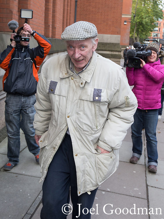 © Joel Goodman - 07973 332324 . No syndication permitted . 15/11/2013 . Manchester , UK . WILLIAM HARPER leaves Minshull Street Crown Court in Manchester today (15th November 2013) .  Ledger is charged alongside Ray Teret , Jimmy Savile 's former chauffeur and flatmate , and Alan Ledger . Photo credit : Joel Goodman
