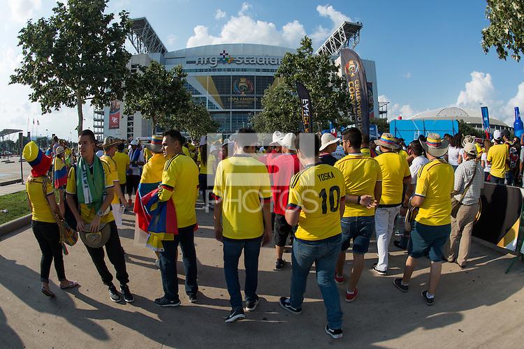 Photo before the match Colombia vs Costa Rica, Corresponding to  Group -A- of the America Cup Centenary 2016 at NRG Stadium.<br /> <br /> Foto previo al partido Colombia vs Costa Rica, Correspondiente al Grupo -A- de la Copa America Centenario 2016 en el Estadio NRG , en la foto: Fans<br /> <br /> <br /> 11/06/2016/MEXSPORT/Jorge Martinez.