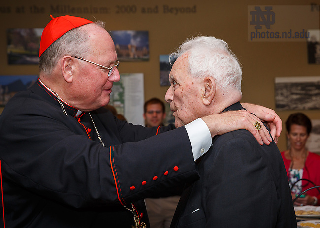 May 19, 2013; Timothy Cardinal Dolan, and Rev. Theodore M. Hesburgh, C.S.C..<br />