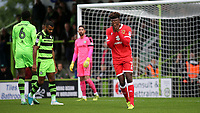Gboly Ariyibi of MK Dons shows his frustration during Forest Green Rovers vs MK Dons, Caraboa Cup Football at The New Lawn on 8th August 2017