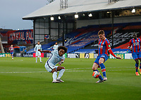7th July 2020; Selhurst Park, London, England; English Premier League Football, Crystal Palace versus Chelsea; Willian of Chelsea taking a shot past James McCarthy of Crystal Palace inside an empty Selhurst Park