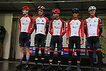 Team Portugal at sign on before the Men Elite Road Race of the UCI World Championships 2019 running 280km from Leeds to Harrogate, England. 29th September 2019.<br /> Picture: Eoin Clarke | Cyclefile<br /> <br /> All photos usage must carry mandatory copyright credit (© Cyclefile | Eoin Clarke)