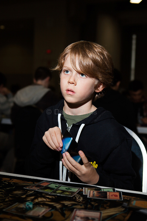 While adults make up the majority of Magic players, some start young. <br /> <br /> Danny Ghitis for Bloomberg Businessweek