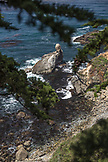 USA, California, Big Sur, Esalen, view of the rocky coastline and the Pacific Ocean looking North, the Esalen Institute