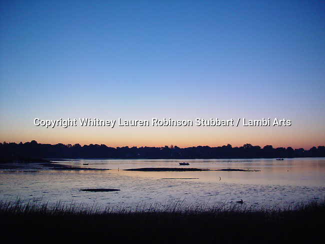 Breathtaking Scenic Photography CT<br /> Sunrise, marsh, trees, sea inlet,