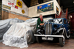 Pictured: Museum attendant Colin Stewart polishes a 1938 Morris 8 Series II car on display at the National Motor Museum, Beaulieu in Hants. <br /> <br /> The museum opens its doors for the first time to vistors tomorrow, Saturday 4th July or  'Super Saturday' following the governments easing of lockdown restrictions as pubs, barbers and museums reopen nationwide. <br /> <br /> Visitors are able to book tickets to the attraction online, and will have to follow social distancing measures around the museum. <br /> <br /> © Jordan Pettitt/Solent News & Photo Agency<br /> UK +44 (0) 2380 458800