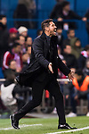 Coach Diego Simeone of Atletico de Madrid reacts during their La Liga match between Atletico de Madrid and Real Madrid at the Vicente Calderón Stadium on 19 November 2016 in Madrid, Spain. Photo by Diego Gonzalez Souto / Power Sport Images