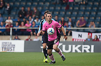 John-Joe O'Toole of Northampton Town in action during the Sky Bet League 2 match between Wycombe Wanderers and Northampton Town at Adams Park, High Wycombe, England on 3 October 2015. Photo by Andy Rowland.