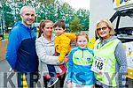 Tony Casey, Caroline Farrell, Dara Casey, Ciara Casey and Noreen Casey, who took part in CBS, The Green fun run on Sunday last.
