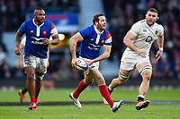 Camille Lopez of France looks to pass the ball. Guinness Six Nations match between England and France on February 10, 2019 at Twickenham Stadium in London, England. Photo by: Patrick Khachfe / Onside Images