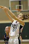 Photograph from the 2009-10 Mt. Rainier Lutheran High School girl's basketball season.
