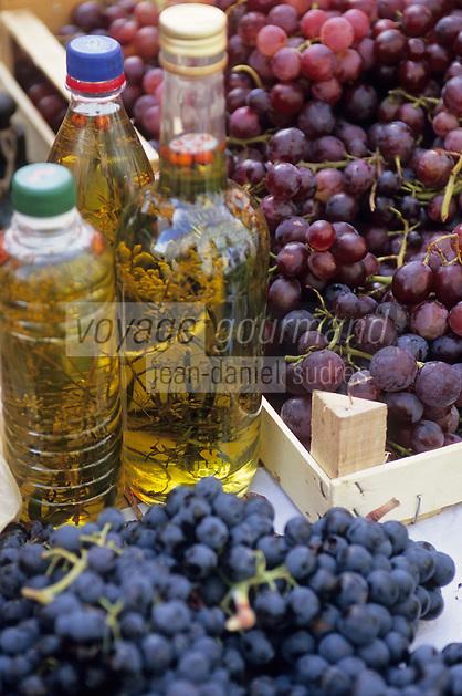 Europe/Croatie/Dalmatie/Dubrovnik: détail étal sur le marché