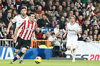 Real Madrid CF vs Athletic Club de Bilbao (5-1) at Santiago Bernabeu stadium. The picture shows Aritz Aduriz and Xabi Alonso. November 17, 2012. (ALTERPHOTOS/Caro Marin) NortePhoto