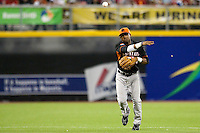 9 March 2009: #4 Hainley Statia of the Netherlands throws the ball to first base during the 2009 World Baseball Classic Pool D game 4 at Hiram Bithorn Stadium in San Juan, Puerto Rico. Puerto Rico wins 3-1 over Netherlands
