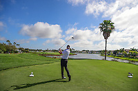 Jimmy Walker (USA) watches his tee shot on 18 during round 2 of the Honda Classic, PGA National, Palm Beach Gardens, West Palm Beach, Florida, USA. 2/24/2017.<br /> Picture: Golffile | Ken Murray<br /> <br /> <br /> All photo usage must carry mandatory copyright credit (&copy; Golffile | Ken Murray)