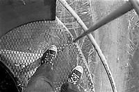 Trent feet on top of windmill, 1987.  &amp;#xA;<br />
