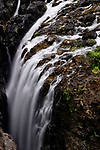 Beautiful waterfall nature scenery at Englishman River Falls Provincial Park. Errington, Vancouver Island, BC, Canada