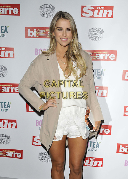 LONDON, ENGLAND - MARCH 02: Vogue Williams attends the Sun's Bizarre column 1st annual party, Steam &amp; Rye bar &amp; restaurant, Leadenhall St., on Monday March 02, 2015 in London, England, UK. <br /> CAP/CAN<br /> &copy;CAN/Capital Pictures