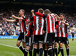Mark Duffy of Sheffield Utd is mobbed after scoring the third goal during the Championship match at the Hillsborough Stadium, Sheffield. Picture date 24th September 2017. Picture credit should read: Simon Bellis/Sportimage