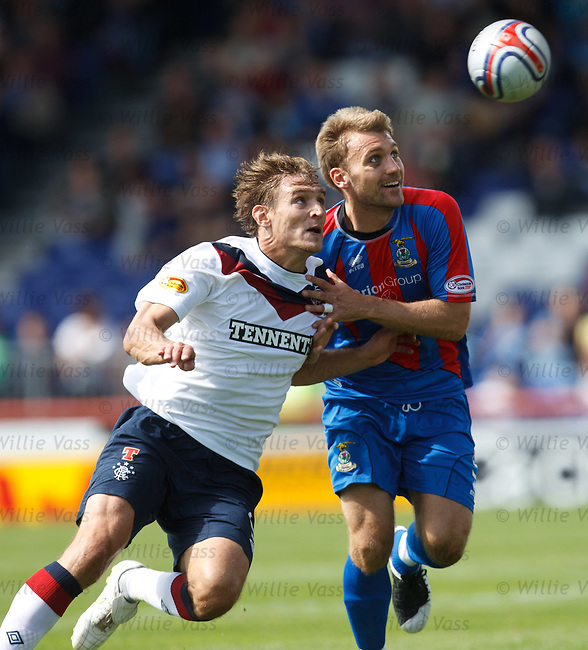 Nikica Jelavic and Graeme Hogg