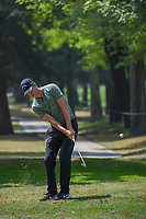 Thomas Pieters (BEL) chips on to 11 from the trees during round 2 of the World Golf Championships, Mexico, Club De Golf Chapultepec, Mexico City, Mexico. 3/2/2018.<br /> Picture: Golffile | Ken Murray<br /> <br /> <br /> All photo usage must carry mandatory copyright credit (&copy; Golffile | Ken Murray)