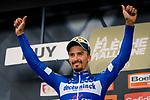 Julian Alaphilippe (FRA) Deceuninck-Quick Step wins the 83rd edition of La Fl&egrave;che Wallonne 2019, Huy, Belgium, 24 April 2019.<br /> Photo by Thomas van Bracht / PelotonPhotos.com / Cyclefile